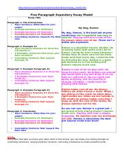 2_Model Five-Paragraph Expository Essay.doc