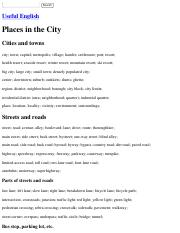 Useful English: Places in the City.pdf