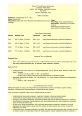 Syllabus  BMGT 422 - Auditing Theory and PracticeFall 2014
