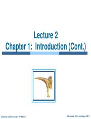 Lecture 2- CH 1