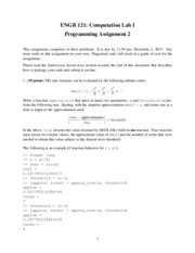 Programming Assignment II