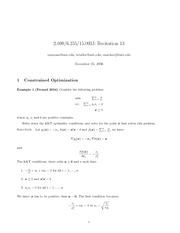 Constrained Optimization and Interior Point Methods notes