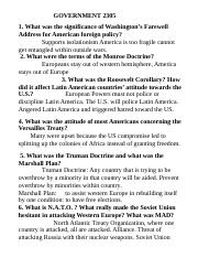 GOVERNMENT 2305 Foreign Policy QUESTIONS.doc