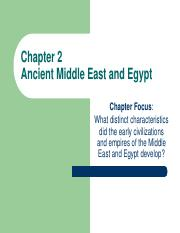 Chapter 2- Middle East  Egypt