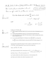 Math 200 Section 202 Midterm #3 Solutions