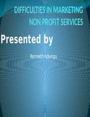 DIFFICULTIES IN MARKETING NON PROFIT SERVICES.pptx