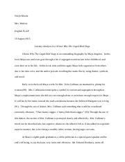 Literary Analysis on I Know Why The Caged Bird Sings.docx