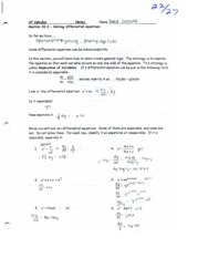 solving differential equations notes