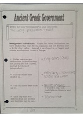 Ancient Greek Government worksheet