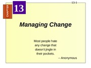310A ch 13 Managing Change
