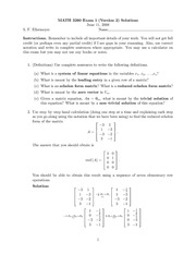 Exam 1 Version 2 Solutions