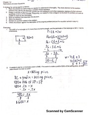 Linear Equation Problems