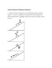 inclined planes solutions
