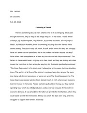 Lit and Society Theme Paper