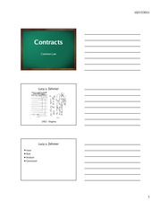 Contracts - Lecture Material
