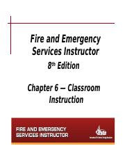 Chapter 6 Notes - Classroom Instruction(1)