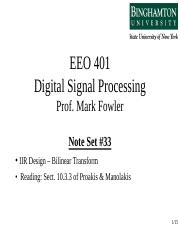 EEO 401 Note Set 33