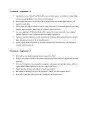 Questions - Assignment # 6 and 7.docx
