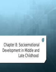 socioemotional development in middle and late childhood