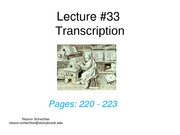 Lecture 33 Transcription