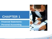 chapter 1 financial statements - personal accounting