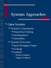 Systems Approaches 2009