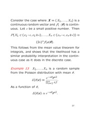 Lecture on Likelihood, and beginning of estimation