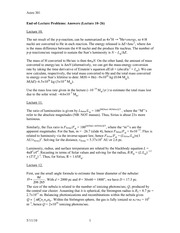 Lecture 10-26 (11,12,13,14,15,16,17,18,19,20,21,22,23,24,25) Problem Solutions (Ansewrs)