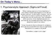 IVC Psyc 1 Summer 12 MW Lecture 2 (Freud)
