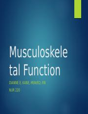 Musculoskeletal Function.pptx