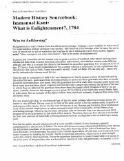 Kant What is Enlightenment (1)