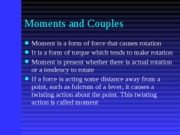 Module 3 - Moments and Couples