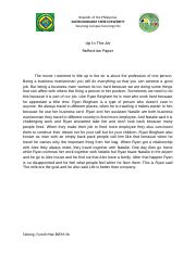 SONA REFLECTION - DU30s SONA 2016(A Reaction Paper The newly elected