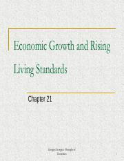 Week 13 - Economic Growth and Rising Living Standards (Chapter 21)