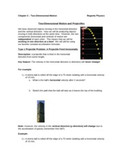 projectile notes 1