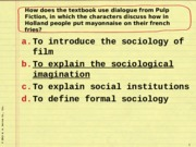 Sociology 101 Test Review