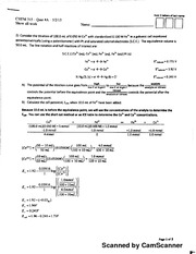 Chem 315 Quiz 4 With Answers
