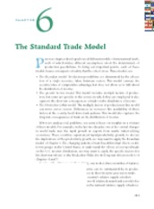 Chapter 6 The Standard Trade Model