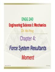 Chapter 4 Force system resultants