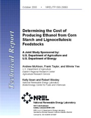 NREL+EtOH+cost+estimates
