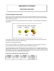 Applications of Isotopes C11-3-01&C11-3-02