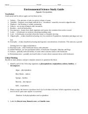 _Aquatic Ecosystems Study Guide.docx