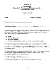 Fall 2013 Midterm 2 Form A