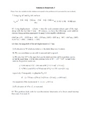PHYS 101- HW 3 Solutions