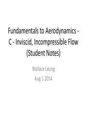 Student notes Chapter C - Inviscid, Incompressible Flow
