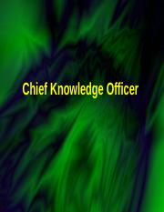 chief knowledge management.ppt
