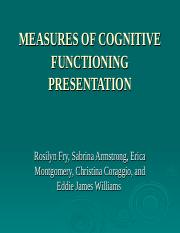 Measures of Cognitive Functioningpp475.ppt