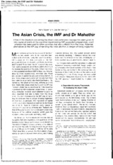 The_Asian_Crisis_the_IMF_and_Dr_Mahathir