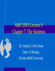A&P2093Lecture9.ppt