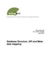 D6 Database Structure, API and Metadata Mapping